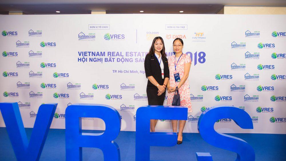 Nhà triển lãm tại Hội nghị bất động sản Việt Nam tại khách sạn Sheraton- Tháng 12 năm 2018